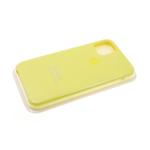Силиконовый чехол Iphone 12 (5.4) Silicon Case, желтый в блистере