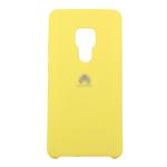 Силиконовый чехол Silicon Cover для Xiaomi Redmi Note 9/K30 с логотипом, улучшенное качество, желтый
