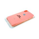 Силиконовый чехол Huawei Honor 20i Silicone case High-end TPU Case, soft-touch, бархат, розовый