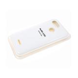 Силиконовый чехол Huawei Y5 2019 Silicone cover, улучшенное качество без логотипа, белый