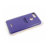 Силиконовый чехол Huawei Y5 2019 Silicone cover, улучшенное качество без логотипа, фиолетовый