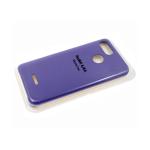 Силиконовый чехол Huawei Honor 10i Silicone case High-end TPU Case, soft-touch, бархат, сиреневый