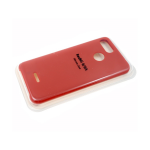 Силиконовый чехол Huawei Y5 2019 Silicone cover, улучшенное качество без логотипа, красный