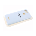 Силиконовый чехол Huawei Y5 2019 Silicone cover, улучшенное качество без логотипа, нежно-голубой