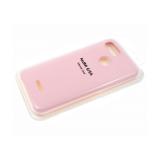Силиконовый чехол Huawei Y5 2019 Silicone cover, улучшенное качество без логотипа, розовый