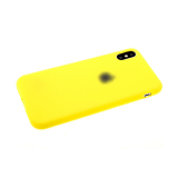 Силиконовый чехол Samsung Galaxy A20s утолщенный Soft touch с логотипом, желтый