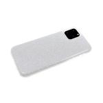 Силиконовый чехол блестящий 3в1 для Xiaomi Redmi 7a, серебряный