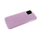 Силиконовый чехол блестящий 3в1 для Xiaomi Mi Note 10 Lite, сиреневый