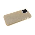 Силиконовый чехол блестящий 3в1 для Samsung Galaxy A01 core золотой