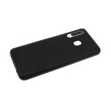 Силиконовый чехол Iphone 5/5S Эко-кожа с линиями, черный борт, черный