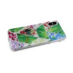 Силиконовый чехол Huawei Honor 20s/P 30 Lite геометрические фигуры, пр. борт, с рис. цветов, зеленый