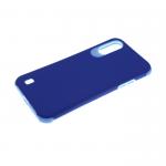 Силиконовый чехол Samsung Galaxy A51 гладкий противоударный, синий