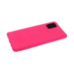 Силиконовый чехол Huawei Y6 2019 матовый, антишок углы, ярко-розовый