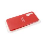 Силиконовый чехол матовый с логотипом для Samsung Galaxy A51, красный