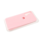 Силиконовый чехол матовый с логотипом для Samsung Galaxy A01, розовый