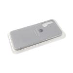 Силиконовый чехол матовый с логотипом для Samsung Galaxy A51, серый
