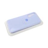 Силиконовый чехол матовый с логотипом для Samsung Galaxy A01, сиреневый