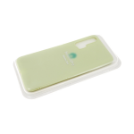 Силиконовый чехол матовый с логотипом для Samsung Galaxy A51, зеленый