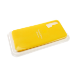 Силиконовый чехол матовый с логотипом для Samsung Galaxy A10, желтый