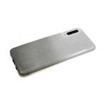 Силиконовый чехол Xiaomi Redmi Note 8 плотный с блестками и переходом, черный