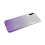 Силиконовый чехол Huawei Y6 2019 плотный с блестками и переходом, фиолетовый