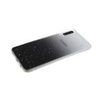 Силиконовый чехол Xiaomi Redmi Note 9 Pro прозрачный с кусочками серебряной фольги, черный