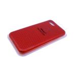 Силиконовый чехол Xiaomi Redmi 7a Silicon Case перфорированный. в блистере красный