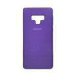 Силиконовый чехол Samsung Galaxy M21 Silicone cover с лого, закрытый по периметру, сиреневый
