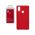Силиконовый чехол Xiaomi Redmi Note 10S Silicon cover stilky and soft-touch, без логотипа, красный