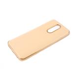Силиконовый чехол Xiaomi Redmi Note 8 утолщенный, глянцевый без лого, блестящий борт, бежевый