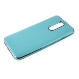 Силиконовый чехол Xiaomi Redmi Note 8 утолщенный, глянцевый без лого, блестящий борт, бирюзовый