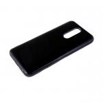 Силиконовый чехол Xiaomi Redmi 8a утолщенный, глянцевый без лого, блестящий борт, черный
