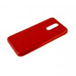 Силиконовый чехол Xiaomi Redmi Note 8 утолщенный, глянцевый без лого, блестящий борт, красный
