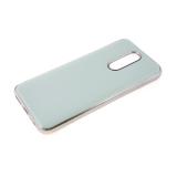 Силиконовый чехол Xiaomi Redmi Note 8T утолщенный, глянцевый без лого, блестящий борт, мятный