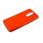Силиконовый чехол Xiaomi Redmi Note 8 Pro утолщенный, глянец без лого, блестящий борт, оранжевый