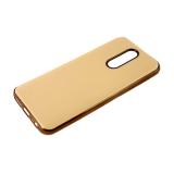 Силиконовый чехол Xiaomi Redmi Note 8 утолщенный, глянцевый без лого, блестящий борт, пудра