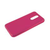 Силиконовый чехол Xiaomi Redmi 8a утолщенный, глянцевый без лого, блестящий борт, розовый
