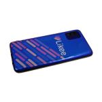 Силиконовый чехол Samsung Galaxy M21 цветной принт с отливом, черный борт, Likee цветные линии