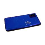 Силиконовый чехол Samsung Galaxy M21 цветной принт с отливом, черный борт, Tik Tok маленький