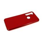 Силиконовый чехол Samsung Galaxy A20s глянцевый, блестящий борт без лого., красный