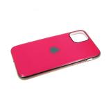 Силиконовый чехол Samsung Galaxy A20 глянцевый, блестящий борт без лого., розовый