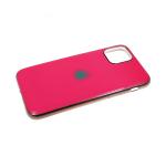 Силиконовый чехол Samsung Galaxy A20s глянцевый, блестящий борт без лого., розовый
