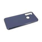 Силиконовый чехол Samsung Galaxy A20s глянцевый, блестящий борт без лого., серый