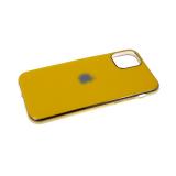 Силиконовый чехол Samsung Galaxy A20 глянцевый, блестящий борт без лого., желтый