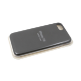 Силиконовый чехол Iphone 11 Pro Max Silicone Leather Case с логотипом, в блистере, серый