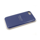 Силиконовый чехол Iphone 11 Pro Max Silicone Leather Case с логотипом, в блистере, синий