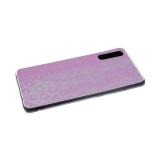 Силиконовый чехол Iphone 7 Plus/8 Plus леопардовый принт хамелеон, прозрачный борт, розовый