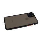 Задняя крышка Samsung Galaxy M51 матово-прозрачная, с защитой камеры, цветные кнопки, черная