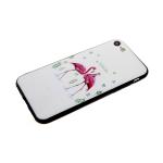 Задняя крышка Xiaomi Redmi 7 мультяшный рисунок, пластик, два фламинго на белом
