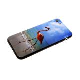 Задняя крышка Xiaomi Redmi Note 7 мультяшный рисунок, пластик, фламинго идет